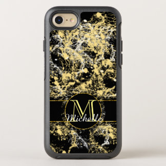 Lit Yellow Marble Customizable Monogram Phone Case