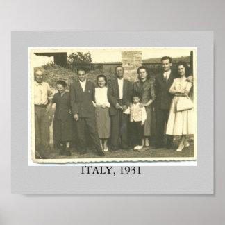 L'ITALIE. 1931 AFFICHES