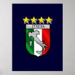 l'Italie 4 cadeaux du football de champions du mon Poster