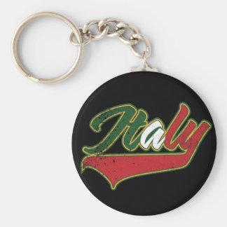 L'Italie rétro Porte-clé Rond