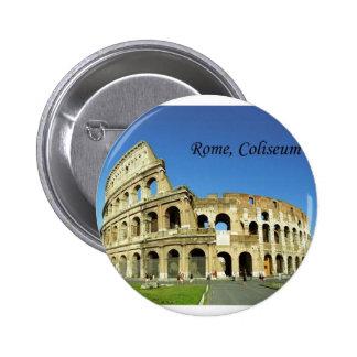 L'Italie, Rome, Colisé romain (St.K.) Macaron Rond 5 Cm
