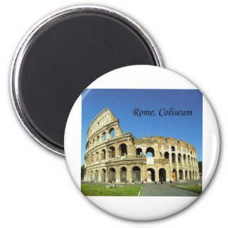L'Italie, Rome, Colisé romain (St.K.) Magnet Rond 8 Cm