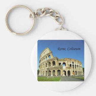L'Italie, Rome, Colisé romain (St.K.) Porte-clé Rond