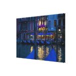 L'Italie, Venise, vue de nuit le long du grand Impressions Sur Toile