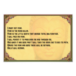 Litany Against Fear Photo Print
