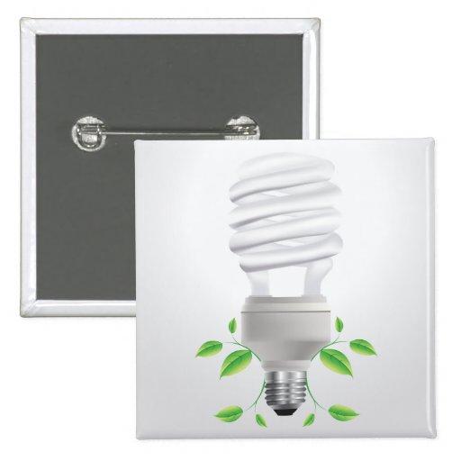 Lite Bulb ~ Compact Florescent CF Live Green Buttons