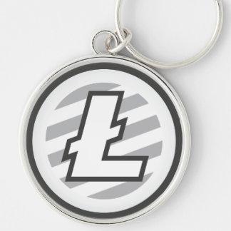 Litecoin Logo Premium Round Large Key Chain