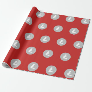 Litecoin LTC Wrapping Paper (Red)