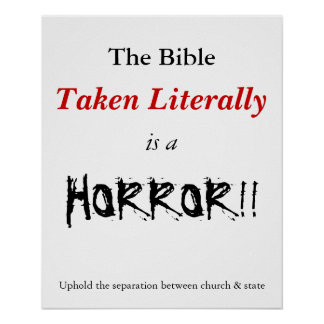 Literal Bible is a horror Poster