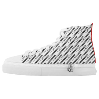 Literally Edgy - Exacto Printed Canvas High Tops