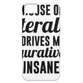 Literally Figuratively iPhone 5 Cases