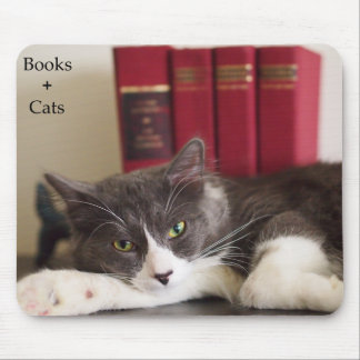 Literary Cat Mouse Pad