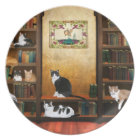 Literary cats plate