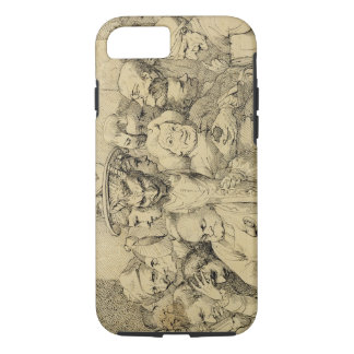 Literary Characters Assembled Around the Medallion iPhone 7 Case