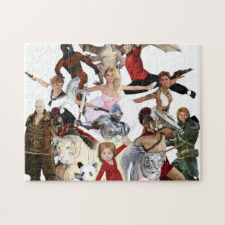 Literary Classics and Fictional Characters Dreamed Jigsaw Puzzle