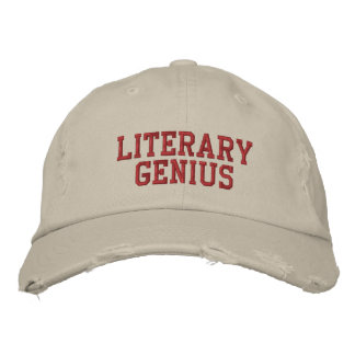Literary Genius hat Embroidered Hats