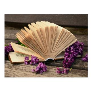 Literary Lilacs Postcard