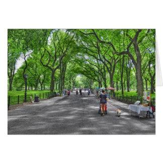Literary Walk- Central Park, New York Card