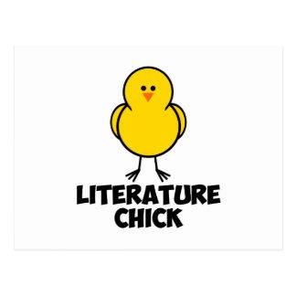 Literature Chick Postcard