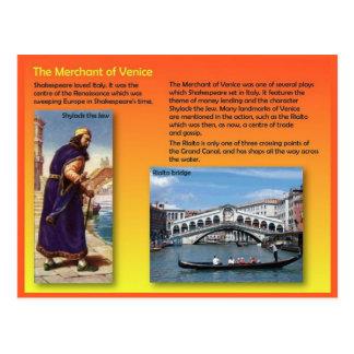 Literature, Shakespeare, Merchant of Venice Postcard