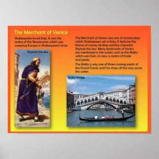 Literature, Shakespeare, Merchant of Venice Poster