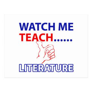 LITERATURE Teacher Postcard