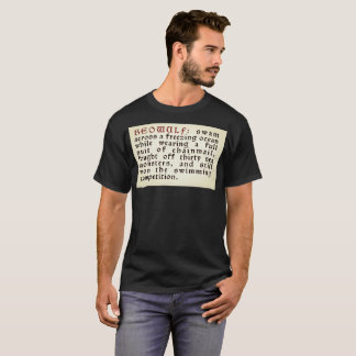 "LitGeek ""Beowulf, Swimming Competition"" T-Shirt"