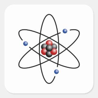 Lithium Atom Chemical Element Li Atomic Number 3 Square Sticker