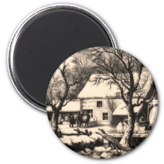 Lithograph ~ Winter Scene Magnet