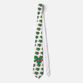 Lithuania and Marijampole County Flags, Arms, Map Tie