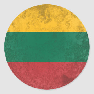 Lithuania Classic Round Sticker
