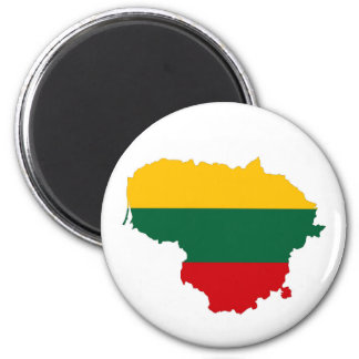 lithuania country flag map shape symbol magnet
