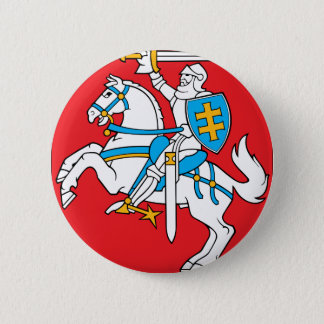 Lithuania Emblem - Coat of arms - Lietuvos Herbas 2 Inch Round Button