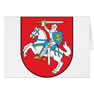Lithuania Emblem - Coat of arms - Lietuvos Herbas Card