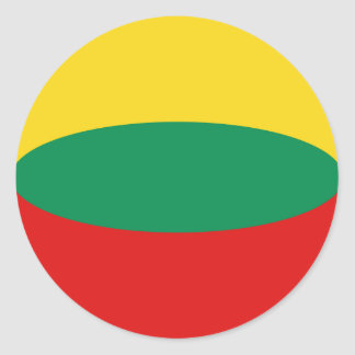 Lithuania Fisheye Flag Sticker