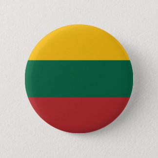 Lithuania flag 2 inch round button