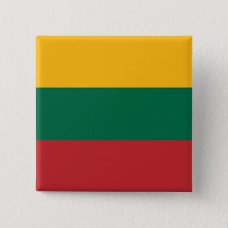 Lithuania Flag 2 Inch Square Button