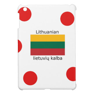 Lithuania Flag And Lithuanian Language Design Cover For The iPad Mini