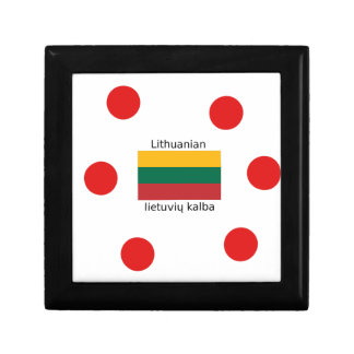 Lithuania Flag And Lithuanian Language Design Gift Box