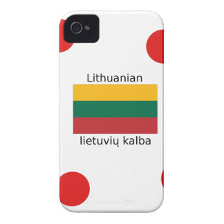 Lithuania Flag And Lithuanian Language Design iPhone 4 Cases