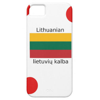 Lithuania Flag And Lithuanian Language Design iPhone 5 Cases