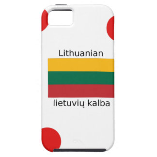 Lithuania Flag And Lithuanian Language Design iPhone 5 Cover