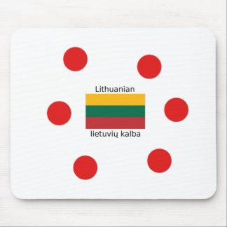 Lithuania Flag And Lithuanian Language Design Mouse Pad