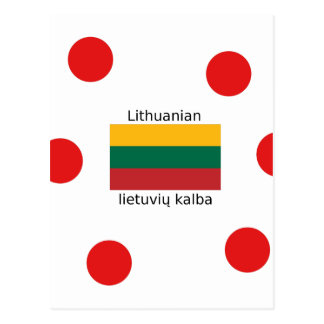 Lithuania Flag And Lithuanian Language Design Postcard