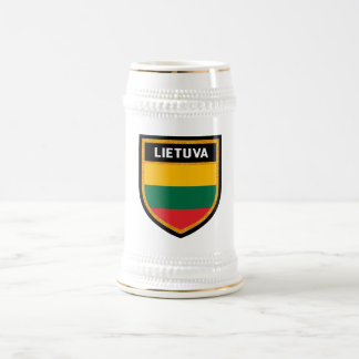 Lithuania Flag Beer Stein