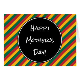 """Lithuania Flag Colors """"Happy Mother's Day"""" Card"""
