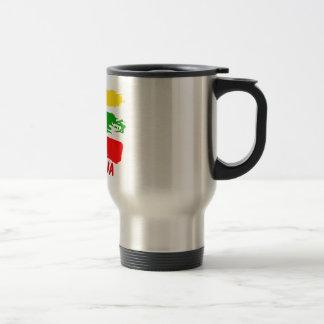 Lithuania flag design travel mug