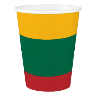 Lithuania Flag Paper Cup