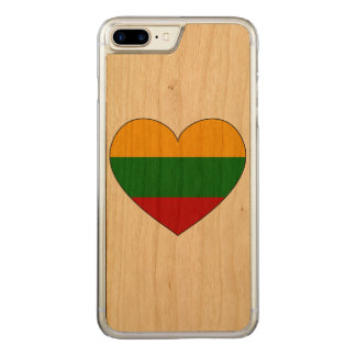 Lithuania Flag Simple Carved iPhone 8 Plus/7 Plus Case