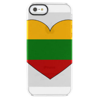 Lithuania Flag Simple Clear iPhone SE/5/5s Case